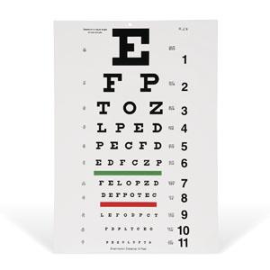 Eye Chart 10 Foot Snellen